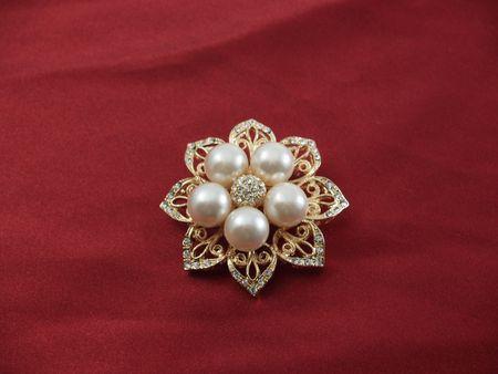 brooch: Eight-point star brooch Stock Photo