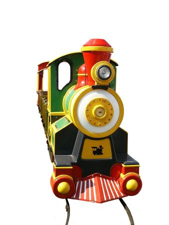 kiddie: Kiddie train at county fair, isolated on white