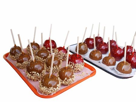 Candy and caramel apples photo