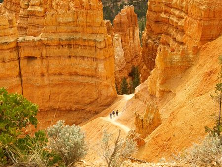 sightseers: Hikers in Bryce Canyon National Park