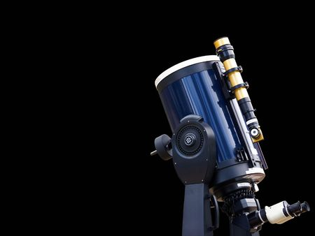 stargazing: Astronomy telescope - isolated with clipping path Stock Photo