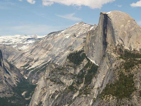 Yosemite Valley and Half Dome, seen from Glacier Point