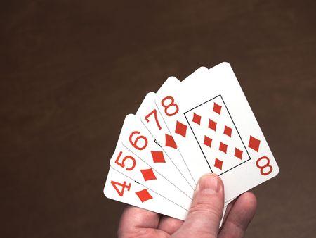 straight flush: Poker hand, a straight flush in diamonds
