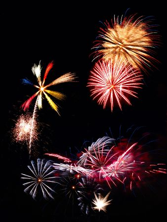 Variety of fireworks explosions for Independence Day celebration Stock Photo - 1349057
