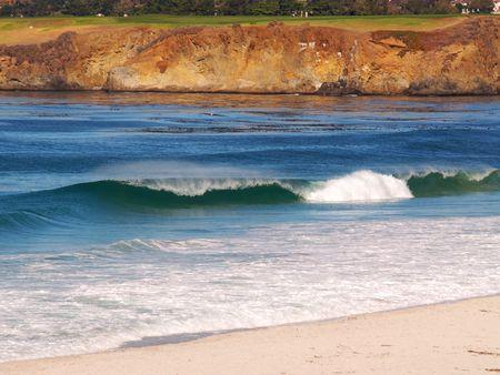 carmel: Surf Playa de borrar sobre el Carmelo a continuaci�n el campo de golf Pebble Beach
