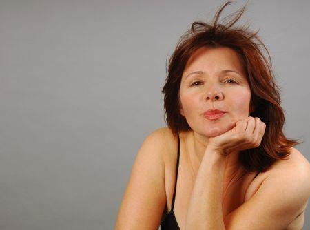 ambivalence: Jolie femme avec un regard de lesp�rance stup�fi�e