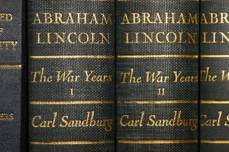 tomes: Closeup of classic works of history Stock Photo