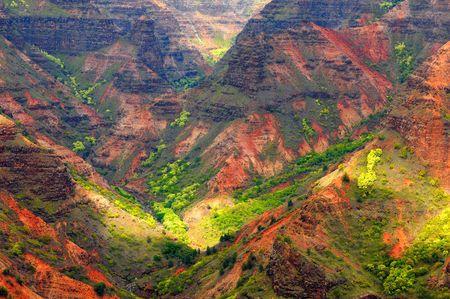 kauai: Looking into Waimea Canyon on the island of Kauai, Hawaii