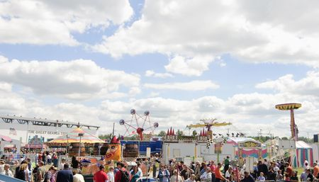 Burton, Ohio - September 5 - Amusement rides at the 188th annual Great Geauga County Fair in Burton, Ohio, on September 5, 2010 Stock Photo - 7738545