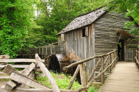 A working gristmill at Cades Cove in Great Smoky Mountains National Park Stock Photo - 9666521