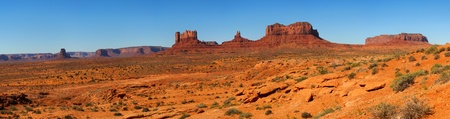 Panorama of Monument Valley taken from the Utah desert Stock Photo - 13552352