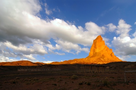 popularly: Evening view of Mt. Agathia near Monument Valley, popularly known as John Fords Rock