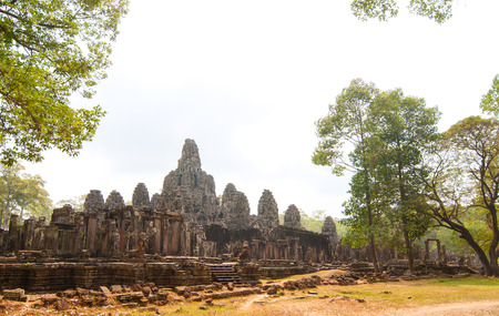 angor: Bayon Temple is the most prominent temple in the Angkor Thom section of Angkor Wat, Cambodia Stock Photo