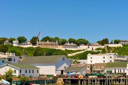 mackinac: MACKINAC ISLAND, MI - JUNE 26, 2014: Fort Mackinac and the Governor
