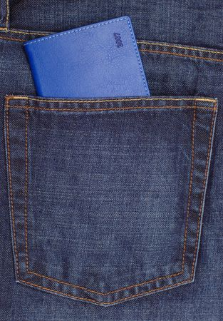Blue diary for year 2007 in jeans pocket Stock Photo - 900275