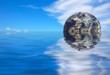 futuristic earth rise Stock Photo - 494276