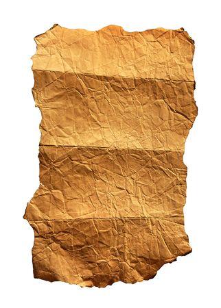 ビンテージ羊皮紙の背景は白で隔離されます。 写真素材
