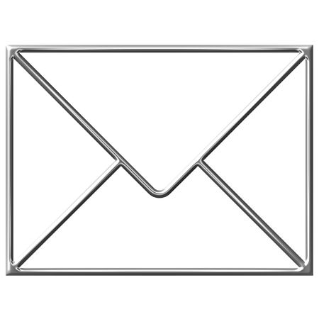 bevel: Sign of the mail,  silver bevel symbol