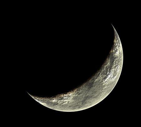 phased moon illustration at black background Stock Illustration - 630180