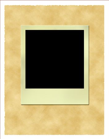 old frame at vitage paper background with clipping work path photo