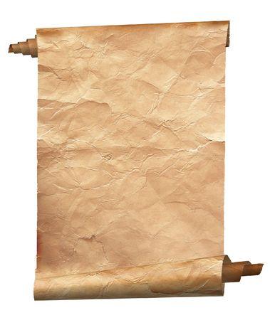 ビンテージの紙の背景が白で隔離されます。 写真素材