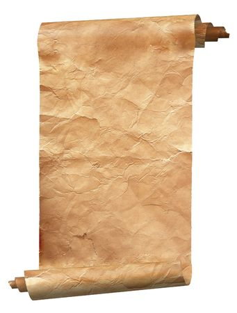 Vintage  paper background isolated on white Stock Photo
