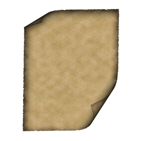 ragged: Vintage grunge rolled parchment illustration with ragged borders. Check my collection of old paper background!