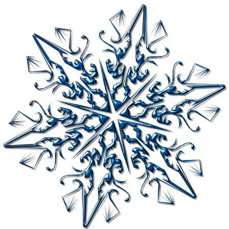 shinny: Christmas snowflake. Complex, shinny, bright Stock Photo