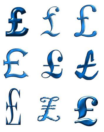 British currency symbol illustration Stock Illustration - 683601