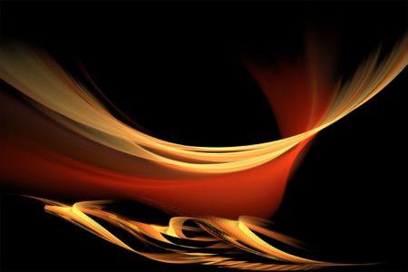 地獄の穴の抽象的な組成 写真素材