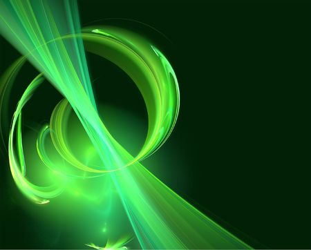 webbing: abstract green 3d illustration Stock Photo