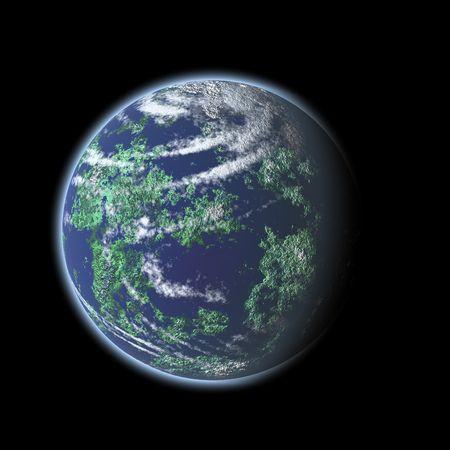 globe illustration: earth globe illustration at black background