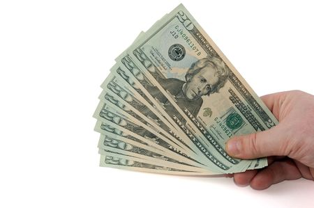 Dollar banknotes in hand with copyspace Stock Photo - 906966