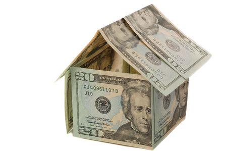 Dollar huis. Huis te huur of verkoop Stockfoto