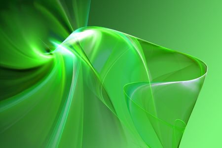 Abstract green 3D shape illustration