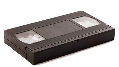 videotape: Videotape over white background Stock Photo