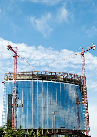 building and construction cranes with copy space Stock Photo - 1406505
