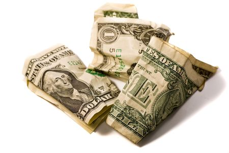 flabby: One Dollar - variations of Crumpled dollar