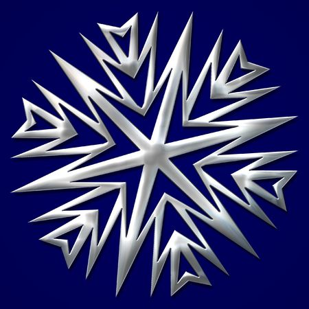 chill: Complex snowflake with metal like surface - good solution for Christmas decorations.