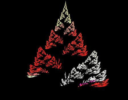 digitally generated: Christmas or New Yesr lights tree. Fractal background