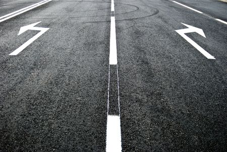 street, road, arrow direction photo