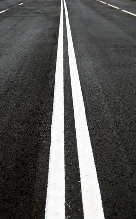 asphalt  road line