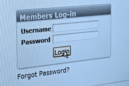 Computer screen with login and password form Stock Photo - 2523127