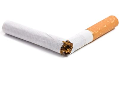 broken cigarette isolated on white with copy space Stock Photo - 2637762