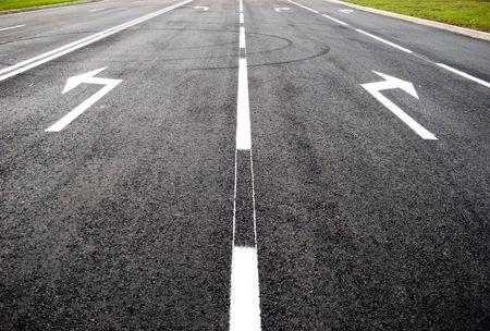 Turn to new life street, road, arrow direction photo