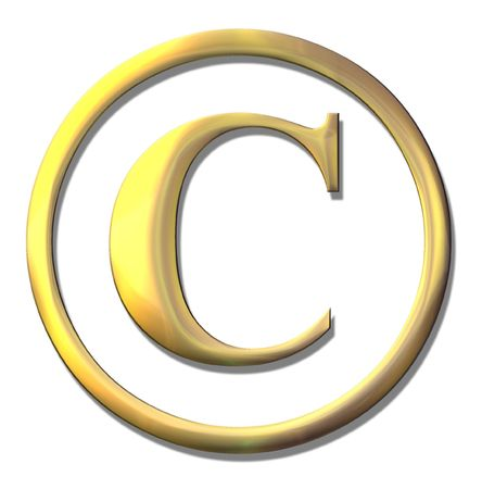 bevel: copyright – goldr bevel - symbol on white Stock Photo