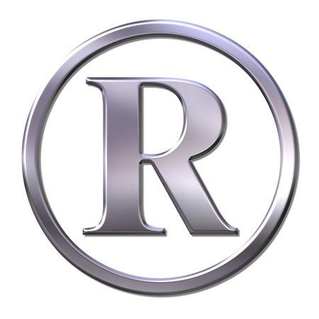 registered: bevel registered sign