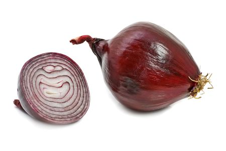 red onion vegetable isolated on white Stock Photo - 2713870