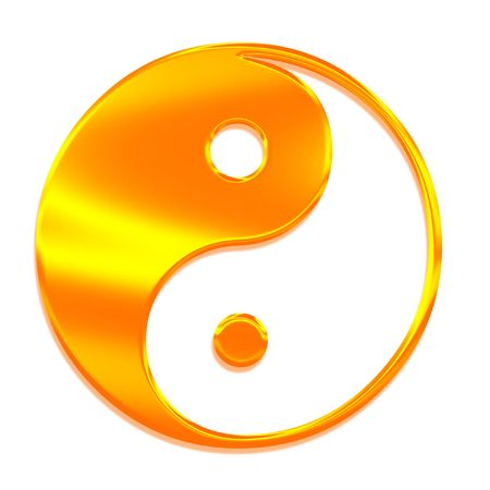 Yin-Yang (Tai Chi) in de Chinese kunst, het symbool van de Grote Absolute Stockfoto