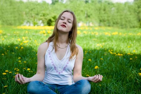 outdoor meditation Stock Photo - 2738144